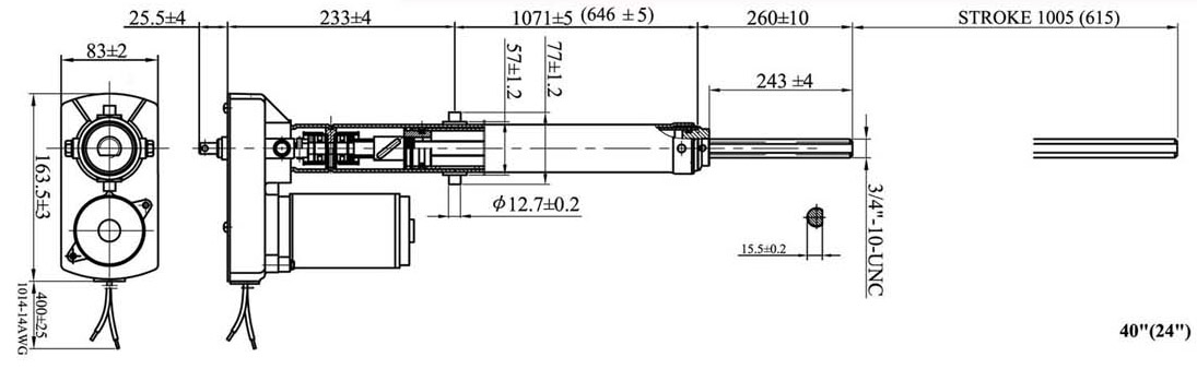 Actuator 01VH plus draw